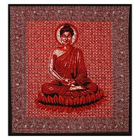 Tapestry Indian Cotton Buddha Peace Serenity Printed Wall Decor Bedspread Bed Sheet Home Decor