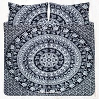 King Size Elephant Bedding Mandala Bed Sheet Set