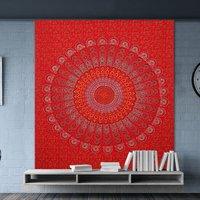 Bedsheet Indian Hand Block Sanganeri Print Mandala Bohemian Wall Hanging Tapestry