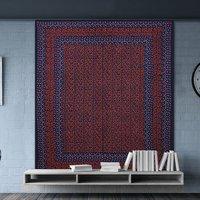 Sanganeri Indian Hand Block Floral Print Mandala Bohemian Wall Hanging Tapestry