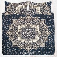Black Gold Flower Bohemian Bedding Set Queen Full Size Bed Sheets Set