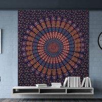 Hand Block Indian Sanganeri Print Mandala Bohemian Wall Hanging Tapestry
