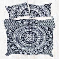 White Elephant King Size Mandala Duvet Cover Quilt Cover Set