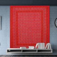 Indian Sanganeri Floral Print Hand Block Mandala Bohemian Wall Hanging Tapestry