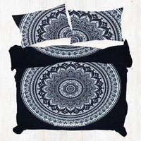 Hippie Mandala Quilt Cover Duvet Cover With Two Pillow Cases