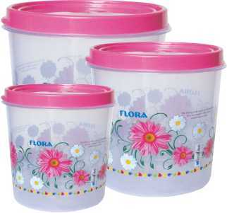 Round Plastic Container Set