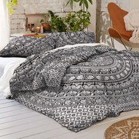 Black and White Elephant Twin Duvet Cover Set Quilt Cover Set