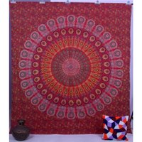 Indian 100% Cotton Naptol Print Wall Hanging Bedsheet Tapestry