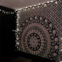 Elephant Mandala Tapestry Wall Hanging