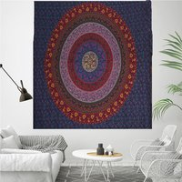 Guru Mandala Indian 100% Cotton Handmade Naptol Print Bohemian Wall Hanging Home Decor Bedspread Bedsheet Tapestry