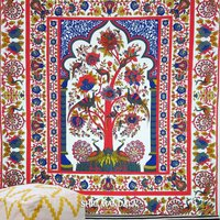 Peacock Multicolor Tree Of Life Tapestry Wall Hanging