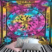Cycle of The Ages Mandala Tapestry Tie Dye Queen Tapestry