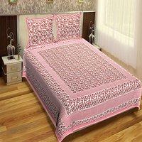 King Size Indian Printed jaipuri 100% Cotton Flower Design Printed Bedsheet