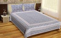 Flower Design King Size Indian Printed jaipuri 100% Cotton Printed Bedsheet Tapestry