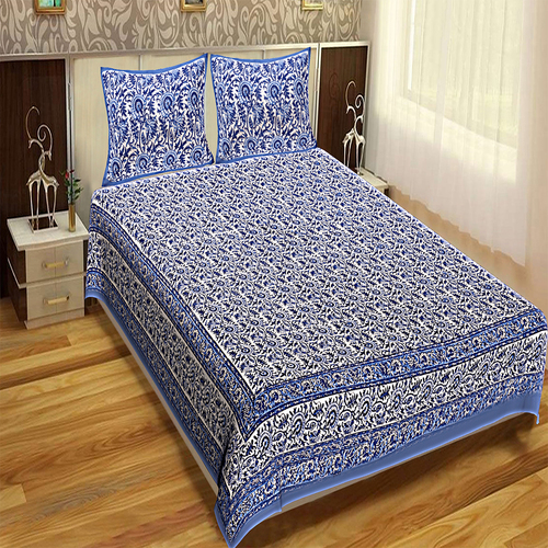 Royal Fashion Indian Printed jaipuri 100% Cotton Flower Design King Size, Printed Bedsheet Tapestry