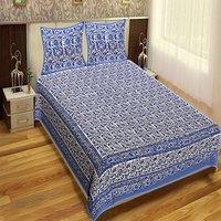 Royal Fashion Indian Printed jaipuri 100% Cotton Flower Design King Size, Printed Bedsheet Tapestry