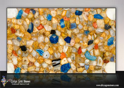 Multi Agate Stone Slab