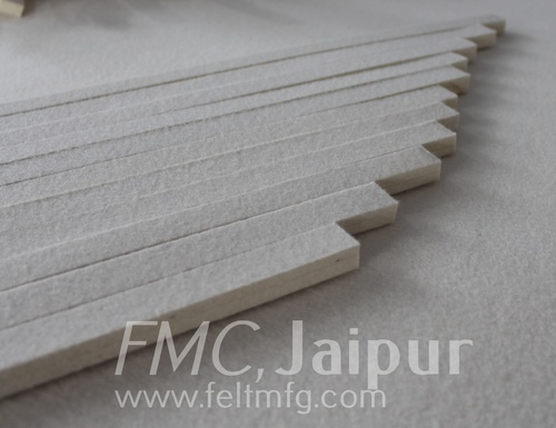 Carbonised felt strips