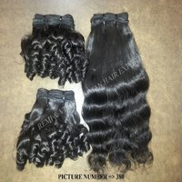 Wholesale Natural Fumi Curly Temple Hair Cuticle Aligned