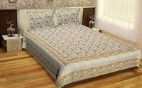 Jaipuri Design Hand Block Printed Sanganeri Bed sheets / Wholesale Bedsheets with pillows