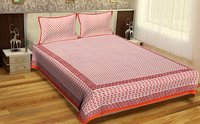 Sanganeri Bedsheets Jaipuri Design Hand Block Printed Wholesale Bedsheets with pillows