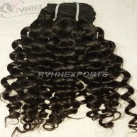 Wholesale Curly Natural Indian Temple Hair Cuticle Aligned