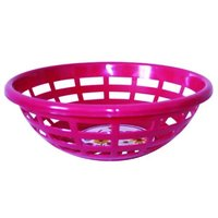 Plastic Round Basket With Side Handle