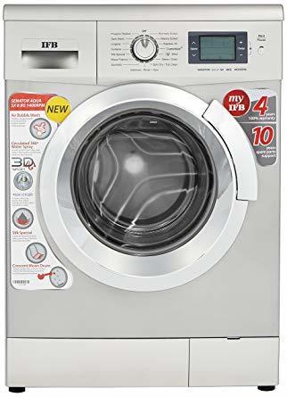 IFB 8 kg Fully Automatic Front Load Washing Machine Silver  (Senator Aqua SX)