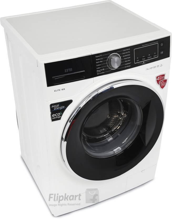 IFB 7.5 kg Fully Automatic Front Load Washing Machine White