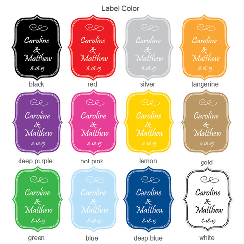 Fancy Die Cut Personalized Labels