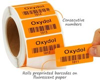 paper preprinted barcode labels