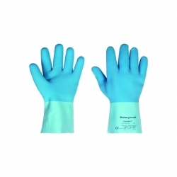Blue Jersey Grip Gloves