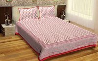 Wholesale Jaipuri Design Hand Block Printed Sanganeri Bedsheets Bedsheets with pillows
