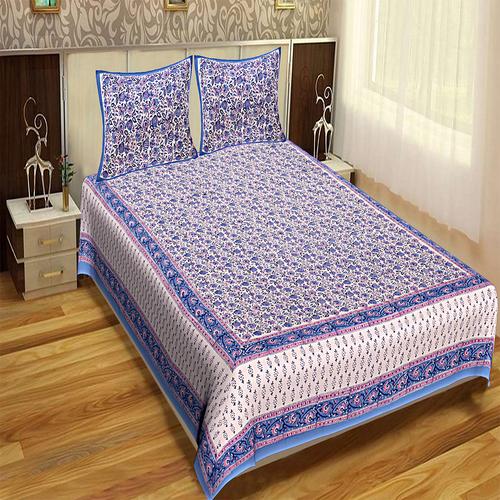 Hand Block Jaipuri Design Printed Sanganeri Bedsheets / Wholesale Bedsheets with Pillows