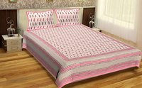 Tapestry Jaipuri Design Hand Block Printed Sanganeri Bedspread Wholesale Bedsheets with Pillows