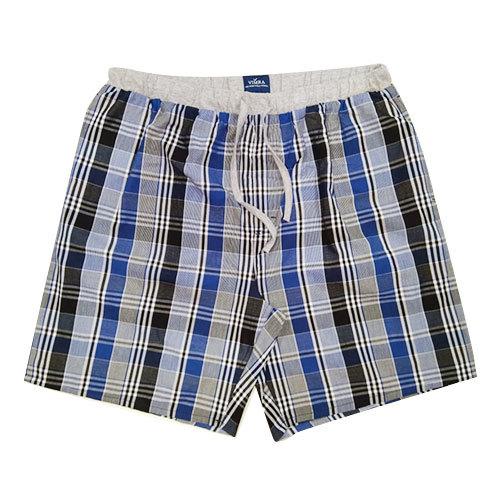 Mens Cotton Check Shorts