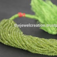 AAA Peridot Stone Faceted Rondelle Beads Wholesale Gemstone