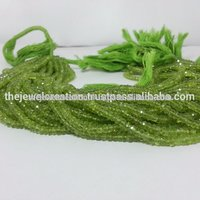 Natural Peridot Stone Faceted Rondelle Beads Gemstone Bead