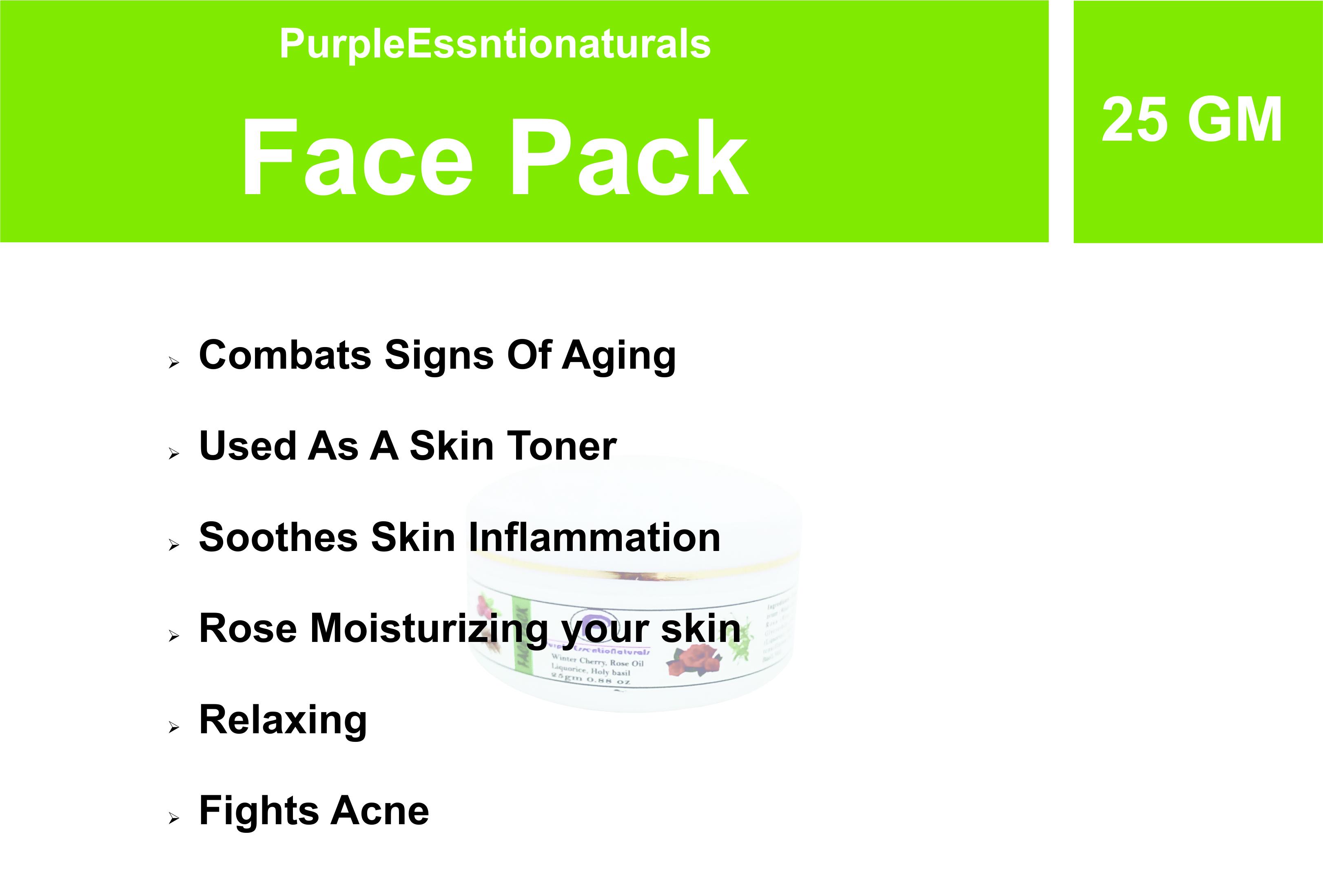 Purple Face Pack