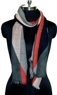 geometrical multicolor print scarves
