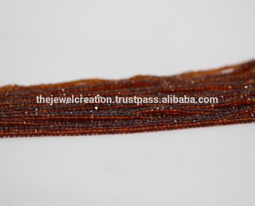 Natural Brandy Citrine Gemstone Faceted Rondelle Beads Strand