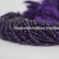 Natural AAA African Amethyst Faceted Rondelle Beads