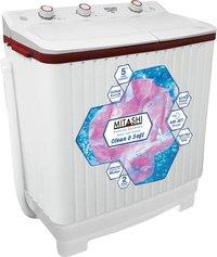 Mitashi 6.2 kg Semi Automatic Top Load Washing Machine White,