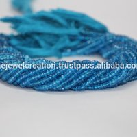 Natural Swiss Blue Topaz Gemstone Faceted Rondelle Beads