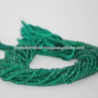 Natural AAA Green Onyx Gemstone Faceted Rondelle Beads Wholesale