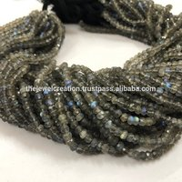 4mm AAA Natural Labradorite Gemstone Faceted Rondelle Beads