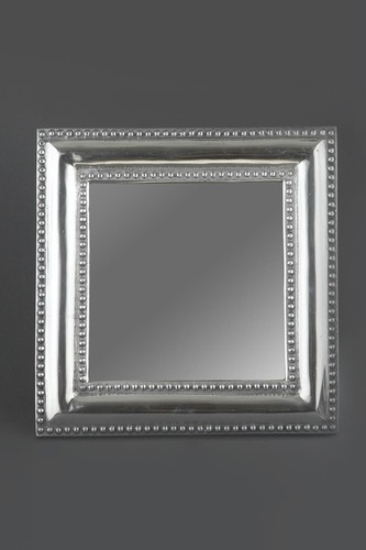 SQUARE BEADED WALL MIRROR