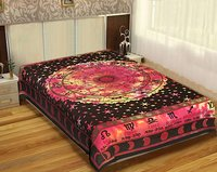 Celestial Zodiac Signs Tie Dye Indian Cotton Hippie Zodiac Design Astro Throw Bedding Tapestry