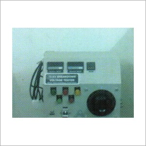 High Voltage Tester Control Panel