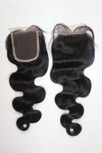 Temple hair lace closure